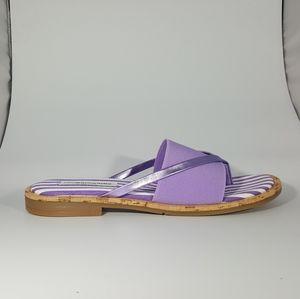 NR Rapisardi Purple Thong Sandal with Elastic Band